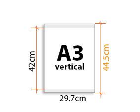 porte affiche magnétique  A3V