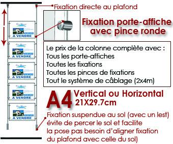 LA COLONNE DE A4 FIXATION SUSPENDUE