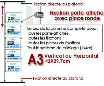 LA COLONNE DE A3 FIXATION PLAFOND/SOL