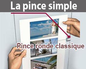 pince simple porte affiche (ronde)