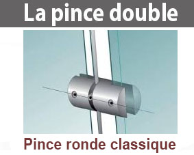 pince double porte affiche (ronde)