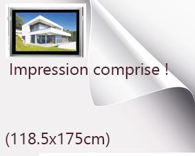 Backlight format 118.5x175cm