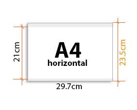 porte affiche Vitrimax A4 Horizontal