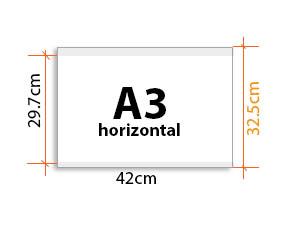 porte affiche Vitrimax A3 Horizontal
