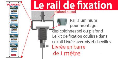 Le rail permet de déplacer vos colonnes de gauche à droite et facilite le montage