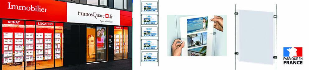 Porte affiche plexiglas pour affichage vitrine , affichette vitrine