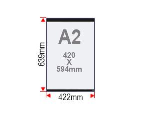 Format affiche A2 vitrine