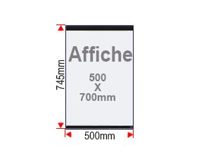 Format affiche 500x700mm vitrine