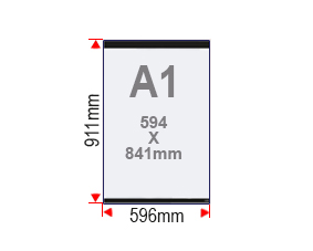 Format affiche A1 vitrine