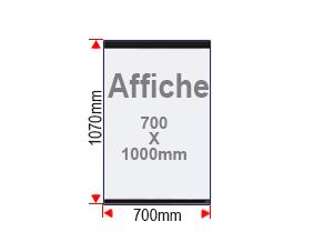 Format affiche 700x1000mm vitrine