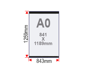 Format affiche A0 vitrine